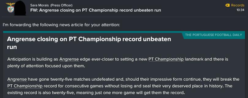 44 1 unbeaten record