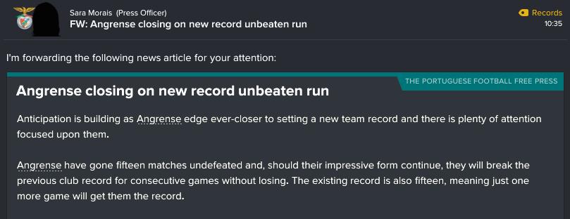 45 1 record unbeaten