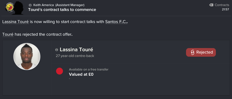 79 1 toure rejects offer