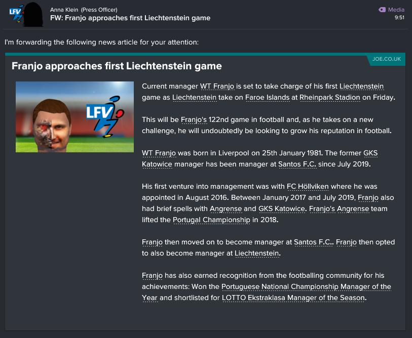 91 1 0 liechtenstein 1st game
