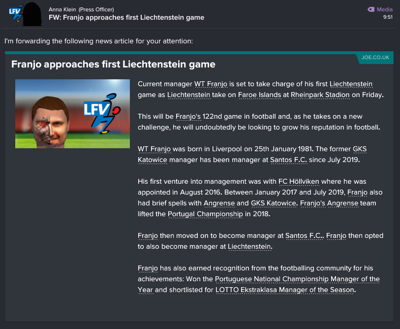 91 1 0 liechtenstein 1st game