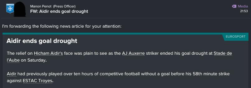 132 2 1 goal drought