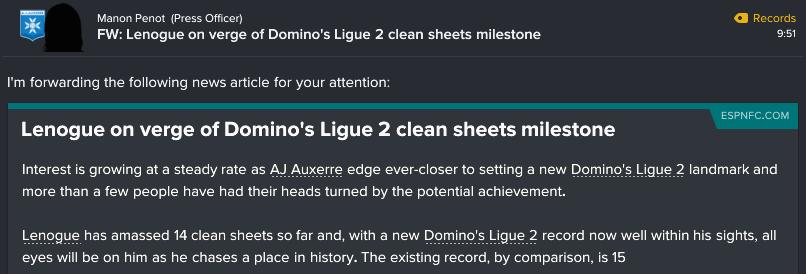 137 1 3 lenogue nears record
