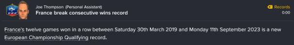 180 3 6 consecutive wins record