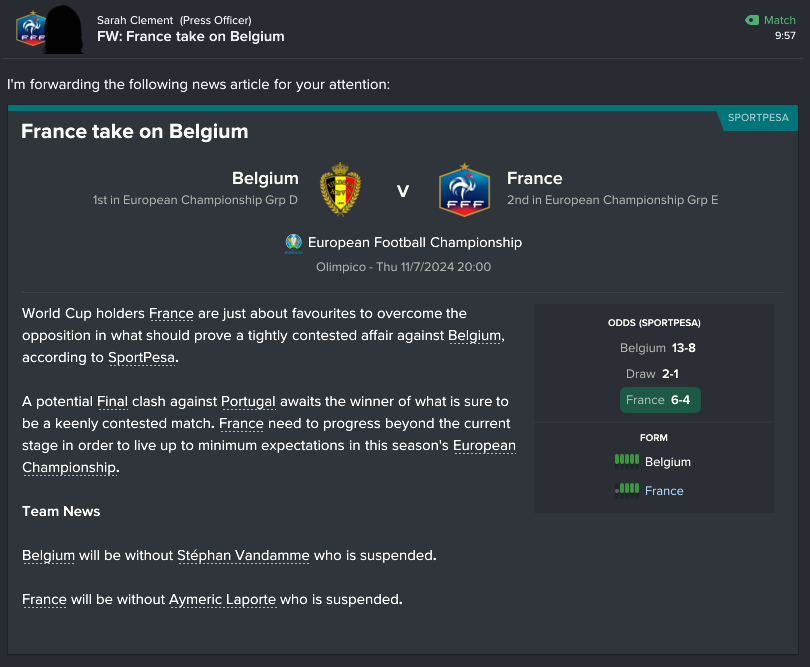 206 1 take on belgium